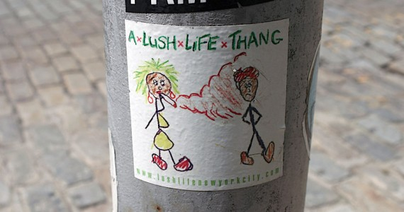 A Lush Life Thang Sticker