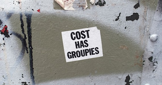 Cost Has Groupies Sticker