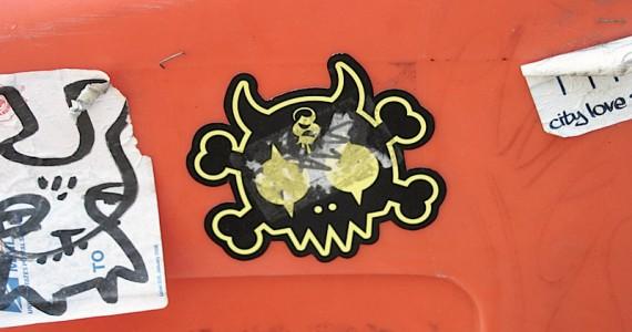 Crossbones Skull Sticker