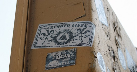 Crushed Linen Sticker