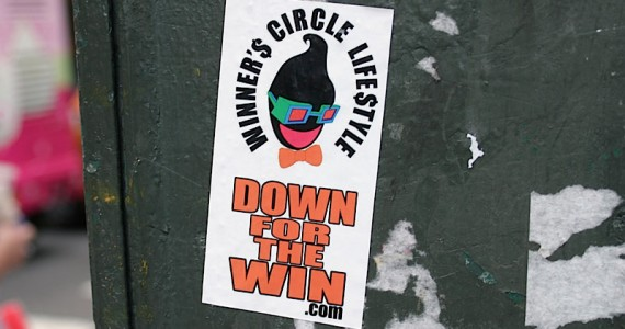 Down For The Win Sticker