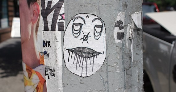 Face Dripping Mouth Sticker