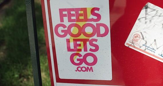 Feels Good Lets Go Sticker