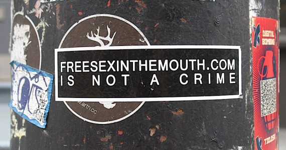 Free Sex In The Mouth Crime Sticker