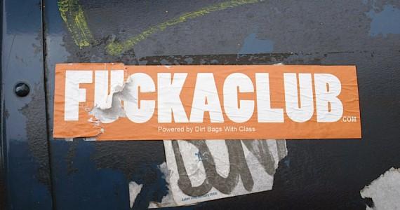 Fuckaclub Sticker