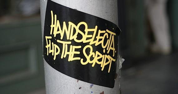 Handselecta Flip The Script Sticker