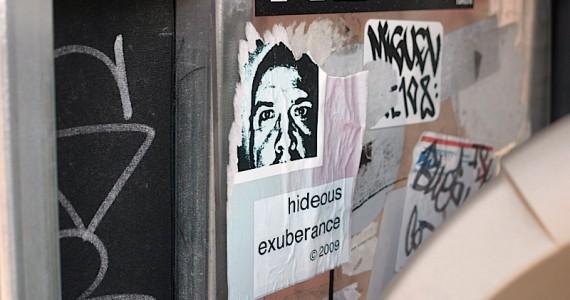 Hideous Exuberance Sticker