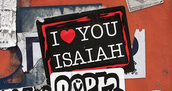 I Heart You Isaiah Sticker