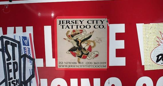 Jersey City Tattoo Co Sticker