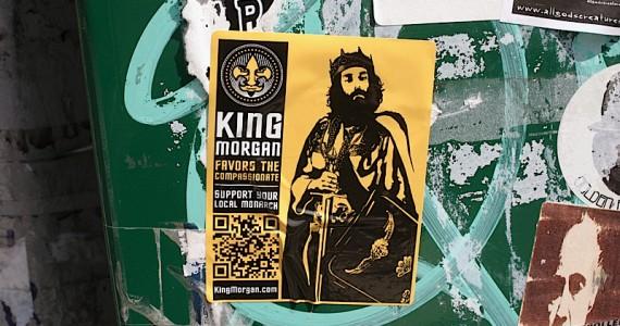 king Morgan 2 Sticker