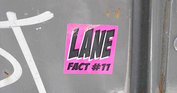 Lane 2 Sticker