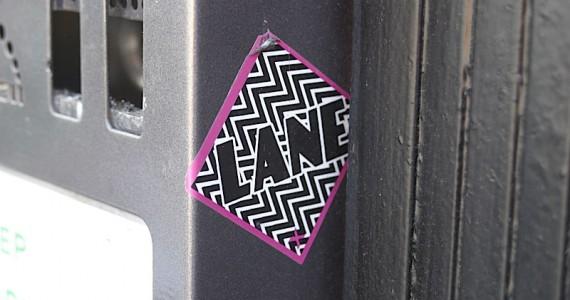 Lane sticker