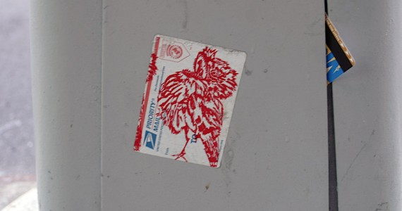 Mail  Bird Sticker
