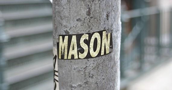 Mason 2 Sticker