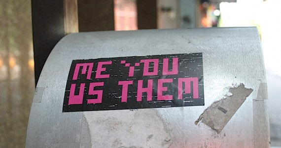Me You Us Them Sticker