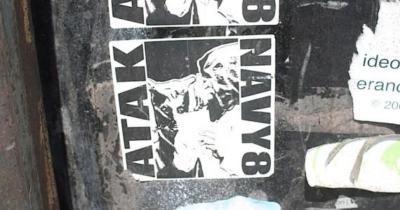 Navy 8 Sticker