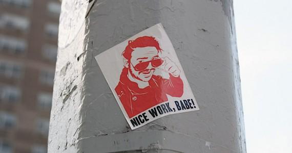 Nice Work Babe Sticker
