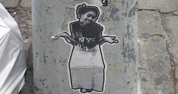 Nyc Woman Shrug Sticker