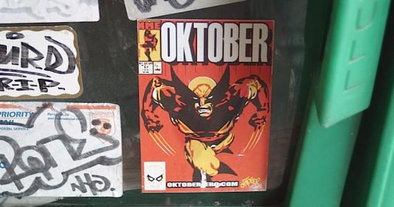 Oktober Sticker