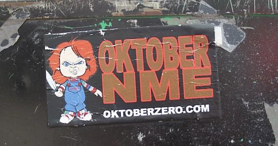 Oktober Nme Sticker