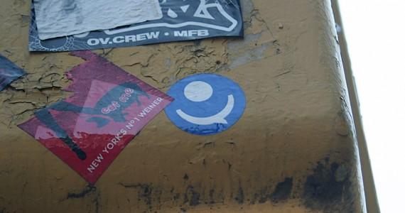 One Eye Smiley Sticker
