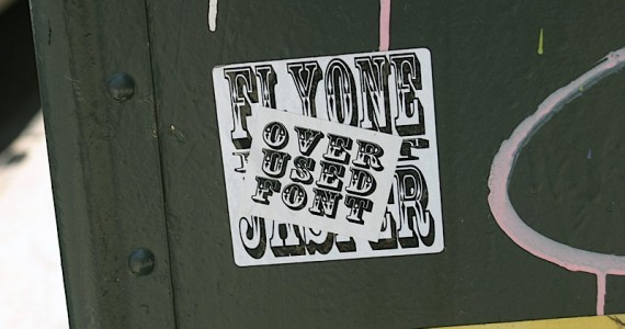 Over Used Font Sticker