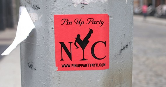 Pin Up Party Sticker