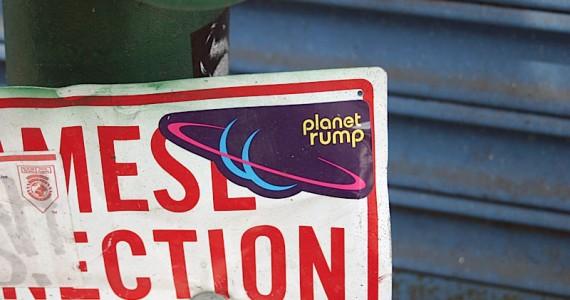 Planet Rump 2 Sticker