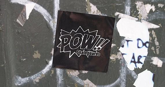 Pow Skateboards Sticker