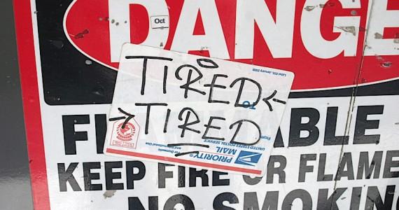 Tired Tired Sticker