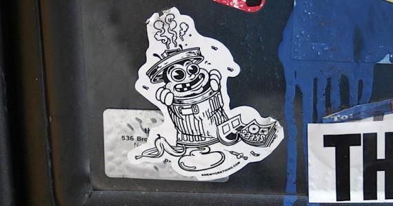 Trashcan Man Sticker