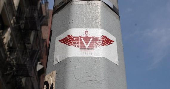 V Wings Sticker